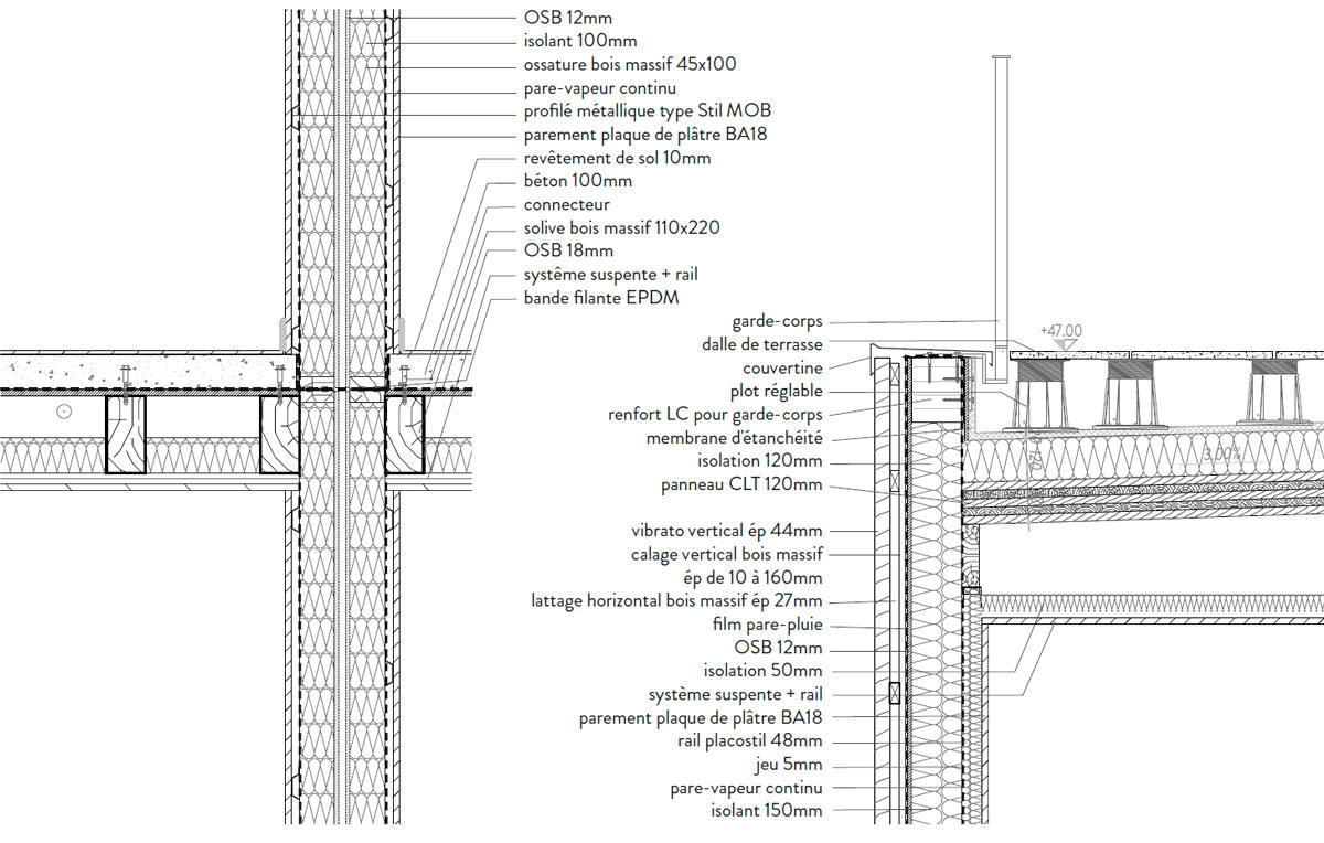 17 logements sociaux traa thibaut robert architectes associ s. Black Bedroom Furniture Sets. Home Design Ideas